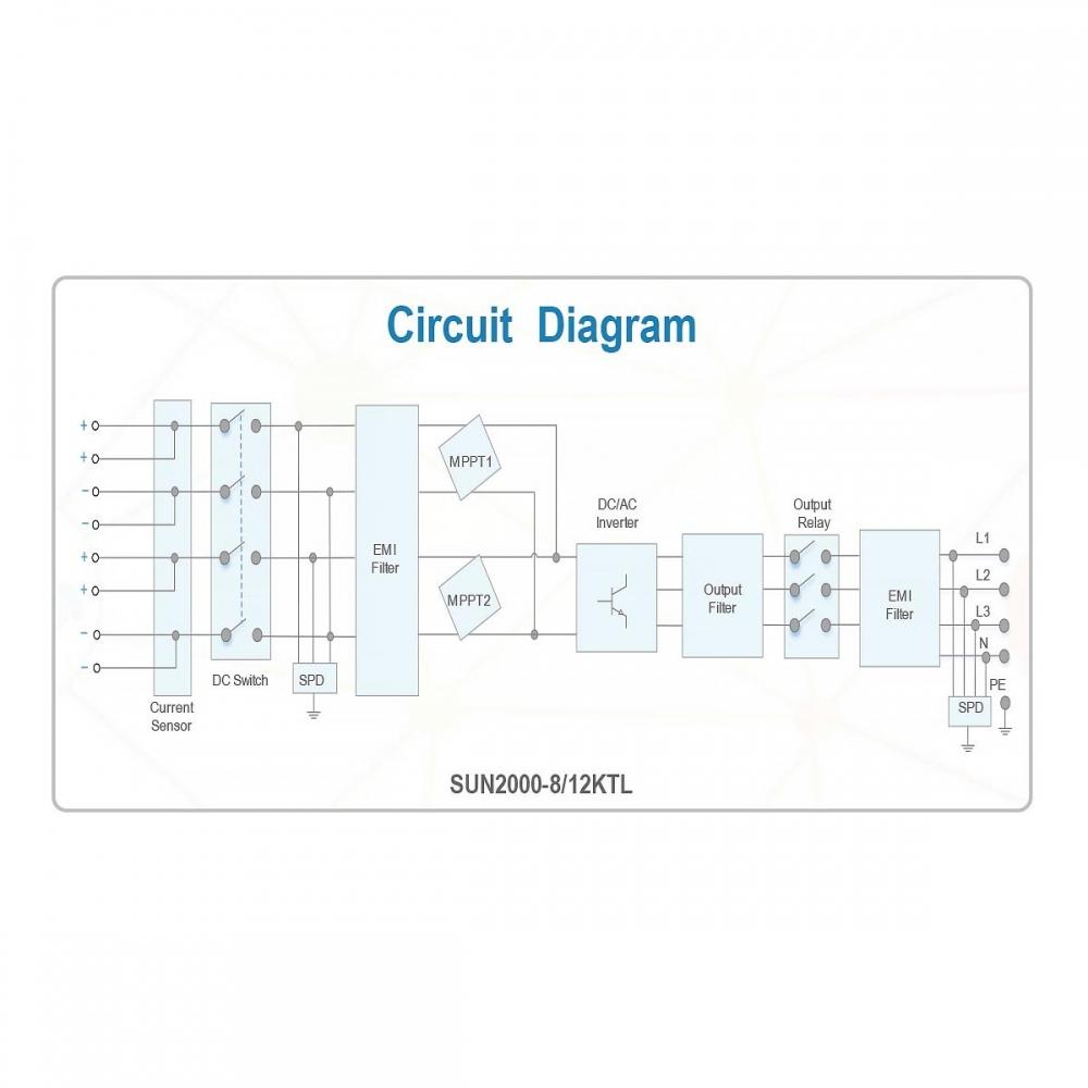 Мережевий інвертор Huawei SUN2000-12KTL (12 кВт) - 1