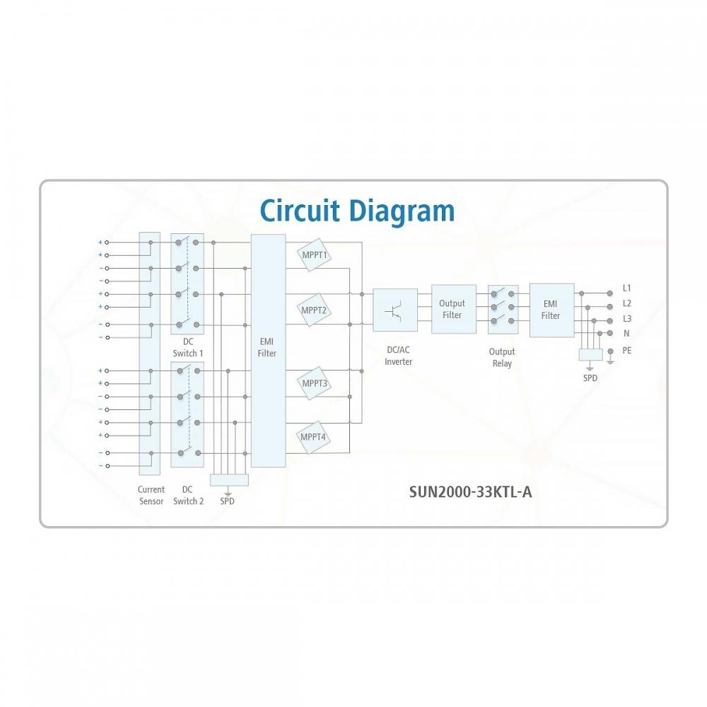 Мережевий інвертор Huawei SUN2000-33KTL-A (30 кВт)  - 1