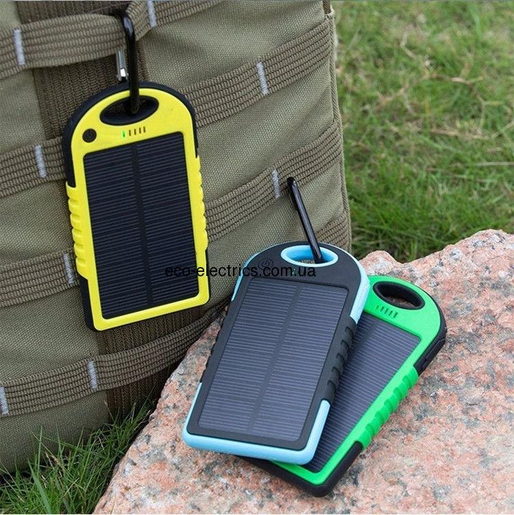 Power Bank 10000 mAh із сонячною батареєю (протиударний / водонепроникний) * 1 332 - 6