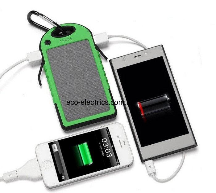 Power Bank 10000 mAh із сонячною батареєю (протиударний / водонепроникний) * 1 332 - 4