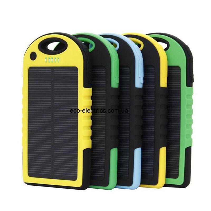 Power Bank 10000 mAh із сонячною батареєю (протиударний / водонепроникний) * 1 332 - 5