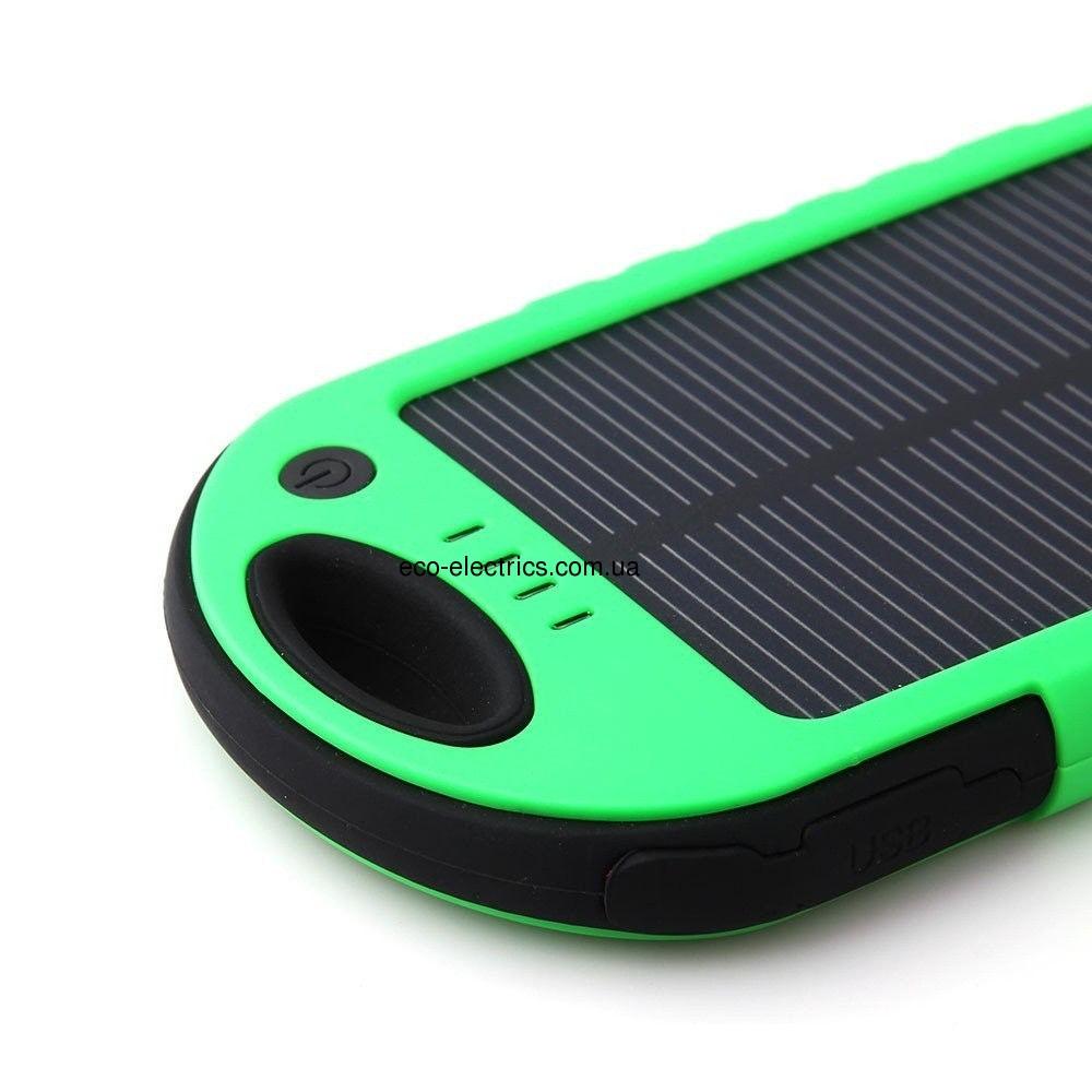 Power Bank 10000 mAh із сонячною батареєю (протиударний / водонепроникний) * 1 332 - 2