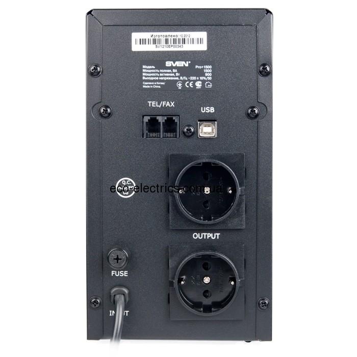 Джерело безперебійного живлення Pro+ 1500 (LCD, USB) - 2